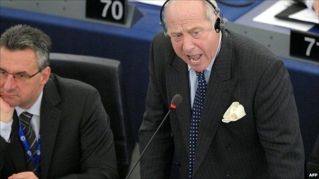 Godfrey Bloom in the European Parliament chamber
