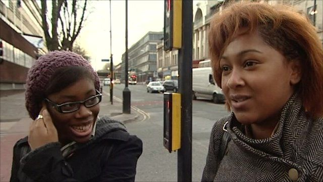 Women in Manchester talking about happiness