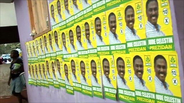 Election posters in Haiti