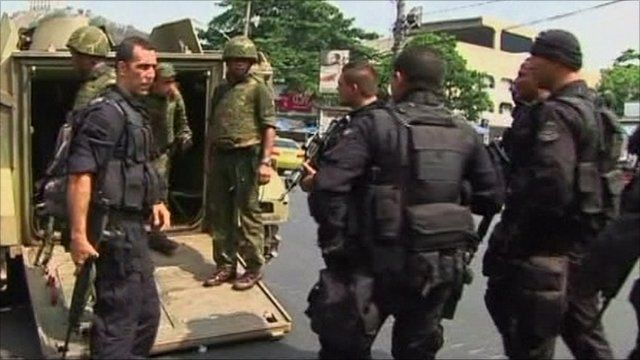 Security forces in Rio