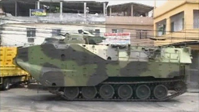 Armoured vehicle in Rio