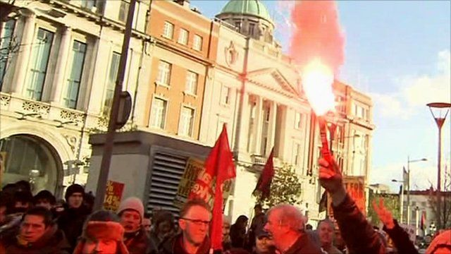 Dublin street protests