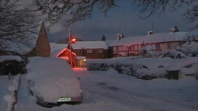 Winter scene in Northumberland