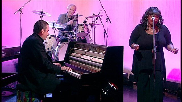 Jools Holland, vocalist Ruby Turner and the Rhythm & Blues Orchestra.