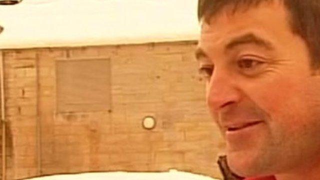 Groom describing his snowed-in wedding