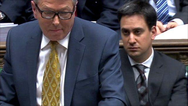 Shadow Chancellor Alan Johnson (left)