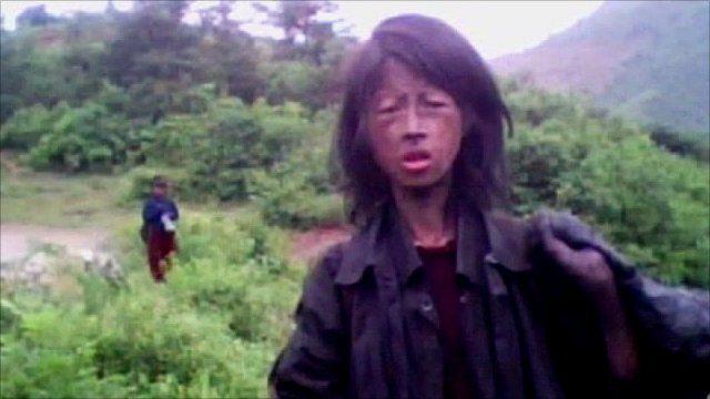 A woman in North Korea