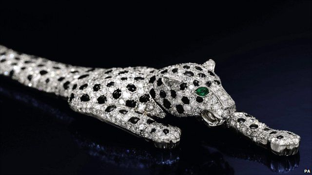 Cartier onyx and diamond panther bracelet, previously owned by Wallis Simpson