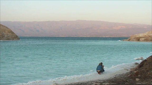 The saltwater Lake Assai, Djibouti