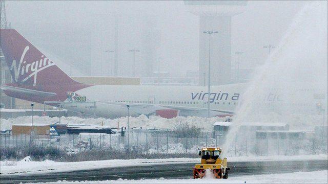 Airplane on Gatwick Airport runway