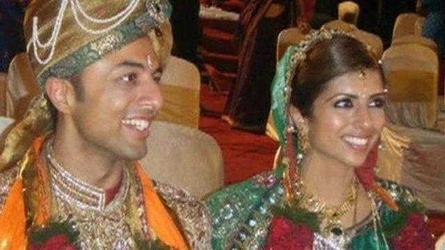 Shrien and Anni Dewani on their wedding day
