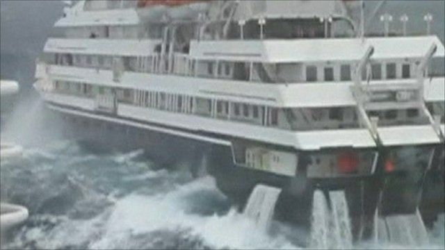 American Cruise Ship Suffers Engine Loss In Heavy Seas BBC News - How heavy is a cruise ship