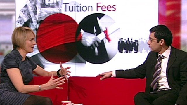 BBC Breakfast's Louise Minchin and Haroon Chowdry from the Institute of Fiscal Studies