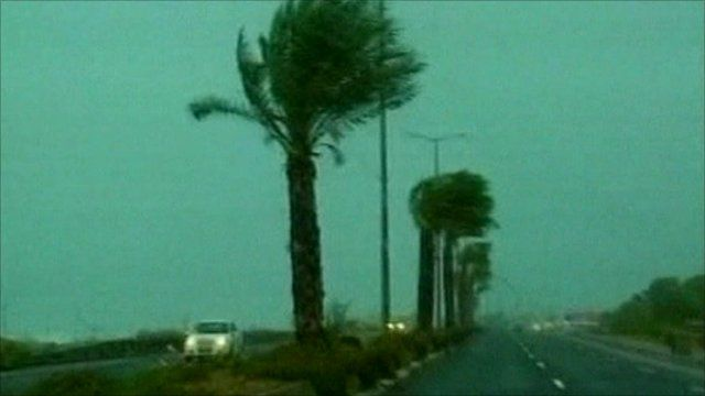 Middle East storm