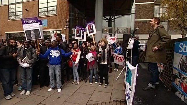 Students protest EMA cuts