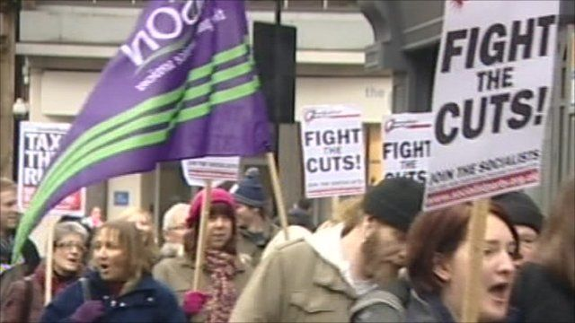 Local council residents have protested against the cuts