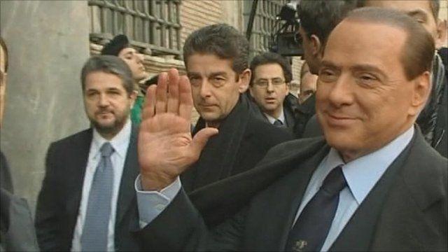 Italy's PM Silvio Berlusconi