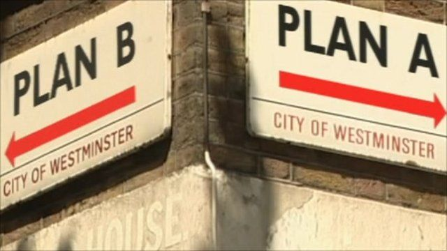 Plan A and B sreet signs
