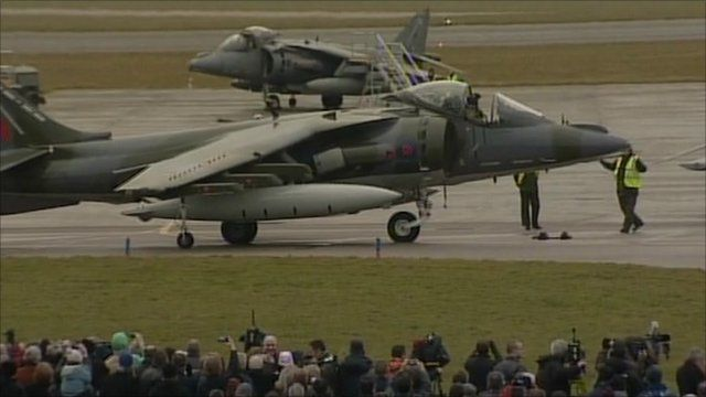 A Harrier at RAF Cottesmore