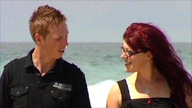 Ian Baird and his girlfriend