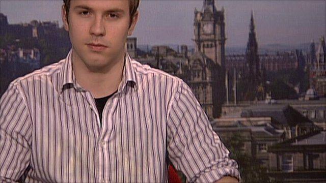 NUS Scotland president Liam Burns