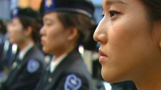 South Korean female officers