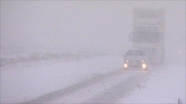 Snowstorm in Wales