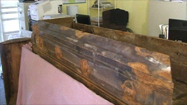 JFK killer Lee Harvey Oswald's coffin