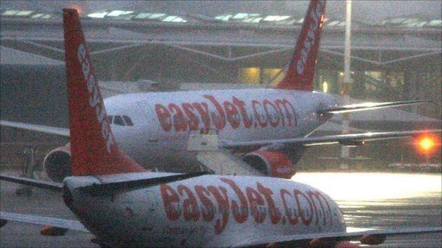 Snow disrupted travel at both Gatwick and Pisa