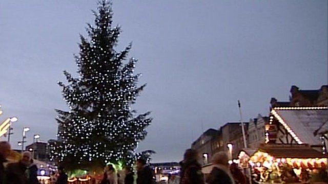 Christmas tree in Nottingham