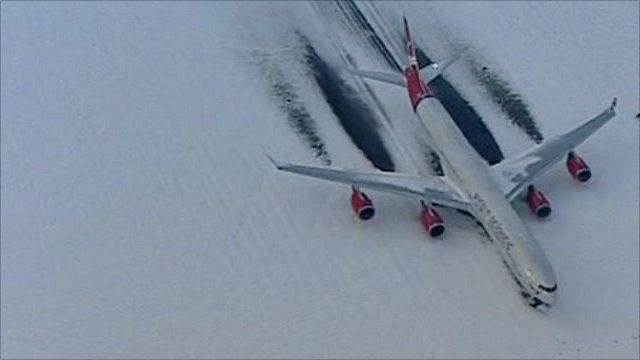 Plane on runway at Heathrow