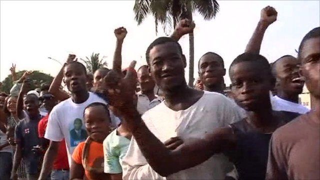 Supporters of incumbent President Laurent Gbagbo