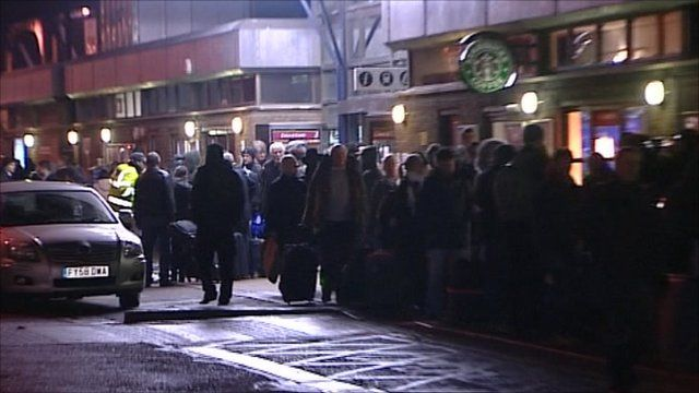 Frustrated commuters at Peterborough station