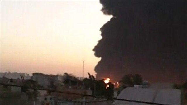 The explosion - courtesy Edmundo Flores Garcia