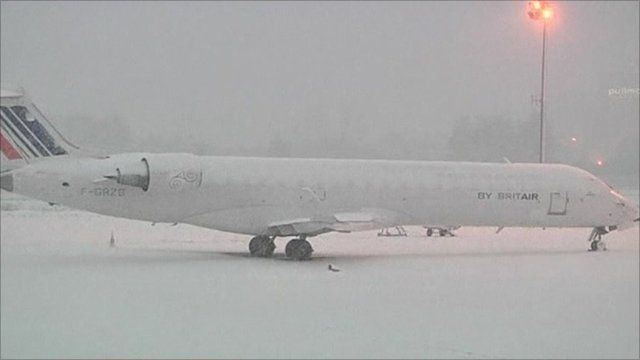Grounded airplane