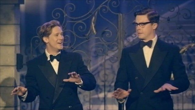 Bryan Dick and Daniel Rigby as Ernie Wise and Eric Morecambe