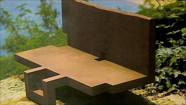 Eduardo Chillida's sculpture 'Topos IV'