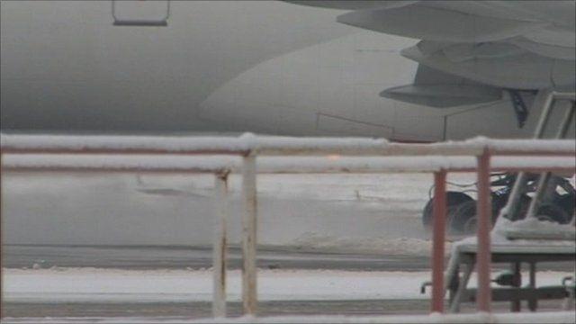Emirates plane at Birmingham airport