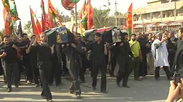 Members of Mehdi army demonstrate