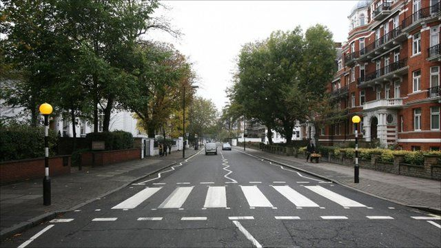 The Abbey Road zebra crossing