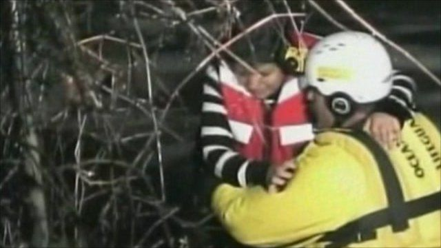 Woman is rescued