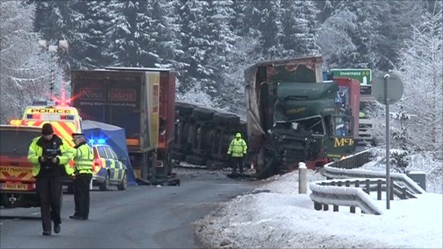 Lorry crash in Perthshire