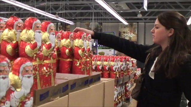 A woman shopping