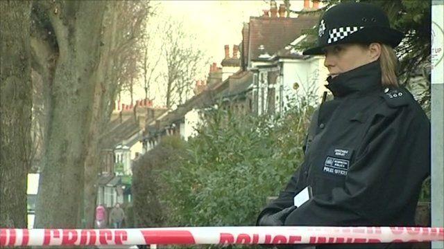 Police outside a Wallington house