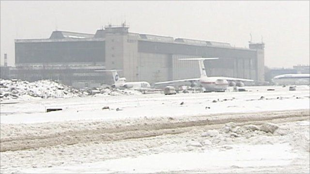 Moscow's Domodedovo Airport.