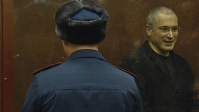 Mikhail Khodorkovsky in the dock