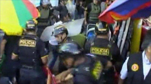 Fireworks explode during police raid