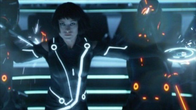 A scene from Tron: Legacy