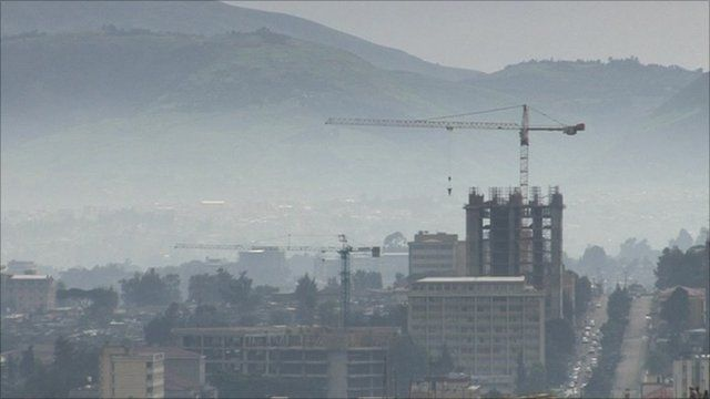 A construction site in Ethiopia