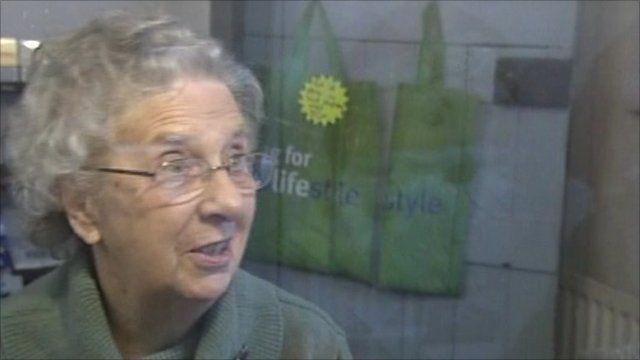 Kathleen White in her post office